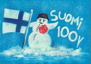 Suomi 100 - Postikortti - Kaija Lepola